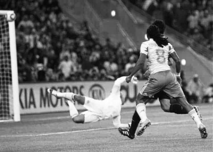 Tshabalala scoring in the World Cup.