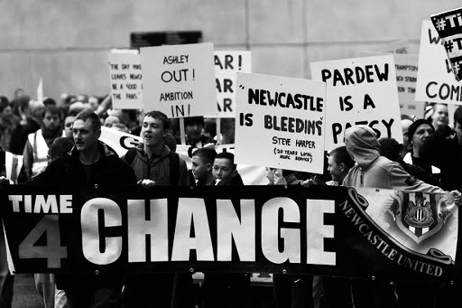 Mike Ashley - Newcastle Protest