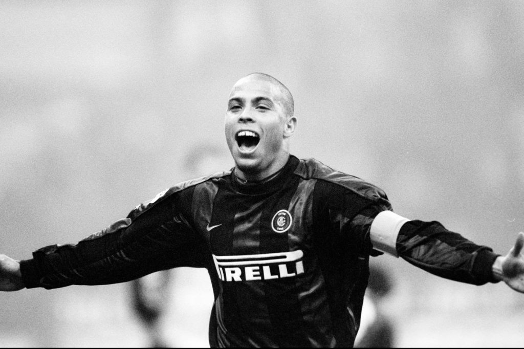 Ronaldo celebrating another Inter goal.