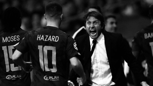 Eden Hazard and Conte