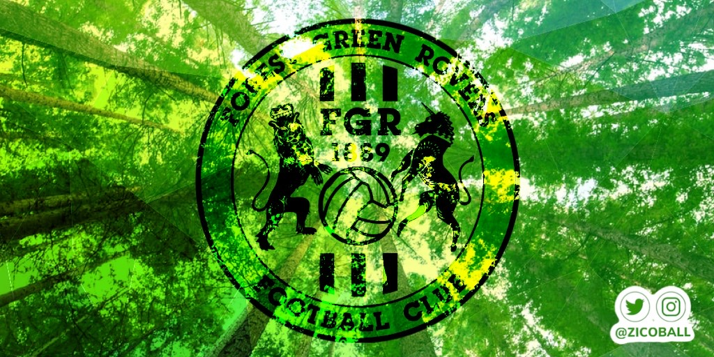 Forest Green Rovers logo and trees