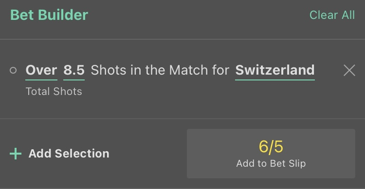 France Switzerland Euro 2020 Stats Bet